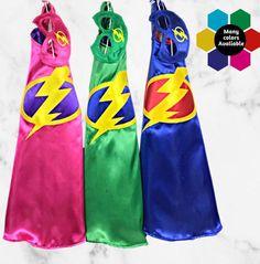 Kids Superhero Cape Set /Unisex Clothes /Superhero Birthday /Halloween Costumes / Birthday Gift /Dress Up/Party Favors Superhero Symbols, Superhero Capes, Super Hero Capes For Kids, Kids Capes, Mickey Mouse Nursery, You Are My Superhero, Girls Cape, Knitted Baby Cardigan, Unisex Clothes