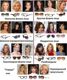 как подобрать солнечные очки по форме лица для женщин: 15 тыс изображений найдено в Яндекс.Картинках