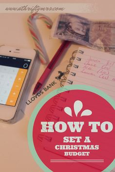 How to set a Christmas budget.  #12ThriftyXmas