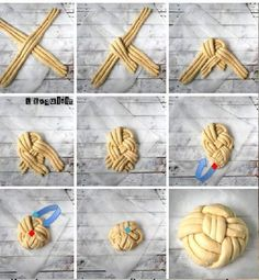 Sweets Recipes, Cooking Recipes, Star Bread, Baking Gadgets, Artisan Bread Recipes, Pastry Design, Bread Shaping, Bread Art, Braided Bread