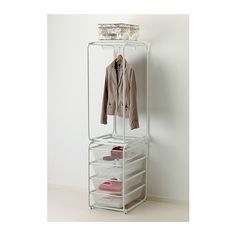 """IKEA ALGOT frame with rod and 4 mesh baskets - 23-5/8"""" d x 68-1/8"""" h x 16-1/8"""" w, $59.99"""