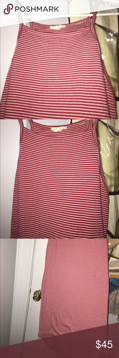 Silence & Noise Long fitted peppermint dress Worn only once still in great condition.  Red and white striped long fitted dress.  Purchased from urban outfitters. Size medium. Interested? Please make an offer 😊. 🌹WILLING TO NEGOTIATE🌹 silence + noise Dresses Midi