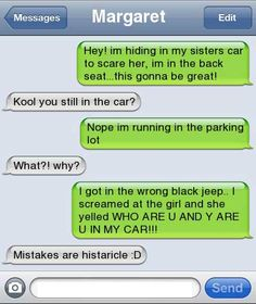 lol! Prank gone wrong!