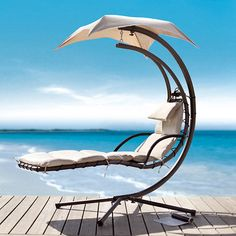 GULP! Paradise would be alone, in silence in the sun with a drink in this chair!~