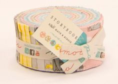 Jelly Roll Strips  STORYBOOK Moda Fabrics by Kate & by quilttaffy, $32.95