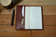Leather Hobonichi Weeks Planner Cover by StrideRidge.com • Get your discount code at http://eepurl.com/bLaqOH