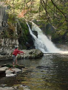 Cades Cove Gatlinburg Tn Waterfalls | Cades Cove Falls Tennesse Fly-Fisherman | Flickr - Photo Sharing!