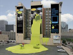La coctelera visual: Más impactantes instalaciones publicitarias alrededor del mundo