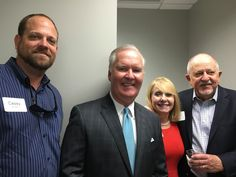 Casey Ellison of EWI Construction with Tampa Mayor Bob Buckhorn at the KAST Construction Tampa Grand Opening! #TampaHasSwagger