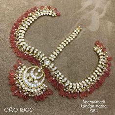 Tikka Designs, Mang Tikka, First Finger, Bridal Make Up, Bridal Jewelry, Pearl Necklace, Jewels, Bride, Elegant