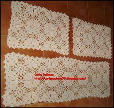 Jogo de tapetes para cozinha 3 peças. Feito em crochê com  barbante 4/6 na cor cru. Tamanho 1 tapete de 1,40 cm de comprimento e 2 tapetinhos com 0,70 de comprimento R$ 69,90