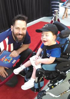 Super Luke handed out his squad cards to the guys of Big Slick KC! Every year, Paul Rudd, Rob Riggle and more gather to raise funds for Children's Mercy Hospital in Kansas City. Two superheroes - Ant Man and Super Luke - finally meeting for the first time!