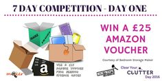 Competition Day One - Want to win a £25 Amazon voucher?   For your chance to win: Like our Page, share this post and enter here http://www.moneymagpie.com/article/competition-win-25-worth-of-amazon-vouchers   Competition prize courtesy of Bedroom Storage Maker   Get ready to de-clutter your homes to make and save money in time for summer. National Clear Your Clutter Day officially launches on 19th March 2016 supported by MoneyMagpie.com