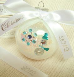 Cute and easy DIY tutorial for gem ornaments...fun as wedding favors.