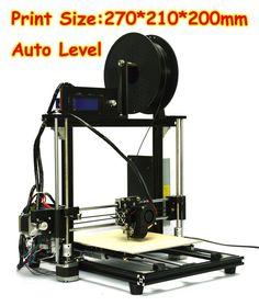 New DIY RepRap Prusa I3 Auto Level Unassembled 3D Printer 175MM Aluminum Frame #HIC