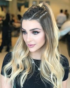 Hair styles, Braided hairstyles, Hair winter Hairstyles for school, Beautiful hair, Ponytail h Cool Braid Hairstyles, Winter Hairstyles, Hairstyles For School, Girl Hairstyles, Braided Hairstyles, Beautiful Hairstyles, Style Hairstyle, Hairstyle Ideas, How To Make Hair