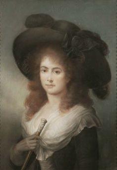 .Portrait of a Lady c.1785, thought to be Georgiana, Duchess of Devonshire; attributed to John Russell R.A. A sensitive and charming portrait in pastels of a beautiful young lady believed to the Duchess of Devonshire c.1785; attributed to John Russell (1745 - 1806).