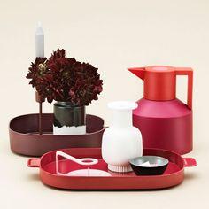 Simon Legald designs stackable melamine trays for Normann Copenhagen