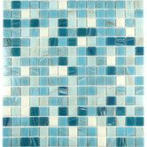 """Found it at Wayfair - Swimming Pool 0.63"""" x 0.63"""" Glass Mosaic Tile in Blue Chalk"""