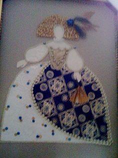 Infanta Margarita, Textiles, Fabric Art, Textile Art, Art Sketches, Paper Art, Decoupage, Little Girls, Crochet Necklace