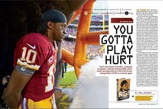 Nice spread on #Redskins QB (and #Baylor graduate) Robert Griffin III in the current Sports Illustrated (via EvoShield on Twitter) // #SicEm #RG3 #RGIII