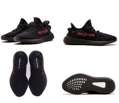 7eece8a7487dc Best Originals Adidas Yeezy Boost 350 V2 SPLY Kanye West Black Red Running  Shoes Sneakers