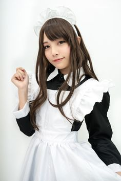 Beautiful Girl like Fashition Maid Outfit, Maid Dress, Cute Asian Girls, Cute Girls, Poses, Cute Fashion, Girl Fashion, Maid Cosplay, Maid Uniform