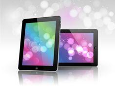 Digital Tablet Showcase Vector Display - http://www.dawnbrushes.com/digital-tablet-showcase-vector-display/