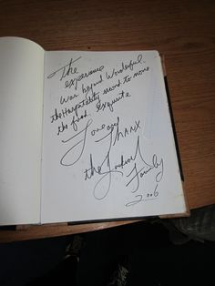 MIchael Jackson's note in the guest book at Grouse Lodge