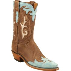 N4638-54 Lucchese Women's Destroyed Western Boots - Brown