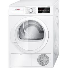 Bosch - 300 Series 4.0 Cu. Ft. 15-Cycle Compact Electric Dryer - White - Front Zoom