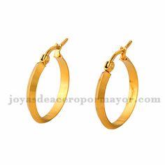 3*23m argollas de dorado en acero para mujer-SSEGG504377