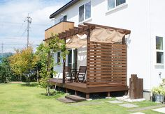 Ideas Screen Porch And Deck Balconies For 2019 Wooden Pergola, Backyard Pergola, Pergola Shade, Backyard Landscaping, Gazebo, Pergola Kits, Natural Fall Decor, Landscape Design, Garden Design