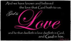 1 John We have known and believed that God loves us. God is love. Those who live in God's love live in God, and God lives in them. Christian Music, Christian Quotes, Psalm 25, 1 John 4, I Want To Know, God Loves Me, Son Of God, Knowing God, Faith In God