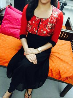 How can buy it Sari Blouse Designs, Dress Neck Designs, Salwar Designs, Salwar Pattern, Kurti Patterns, Indian Designer Outfits, Indian Outfits, Indian Dresses, Designer Dresses