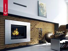 Fireplace OLIWIA 18 kW system lift up #kratkipl #kratki #fireplace #insert #interior #livingroom