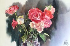 Watana Kreetong  Stone Roses/2016 38x56cm