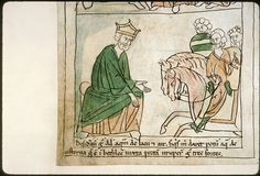 Navarre Picture Bible Pamplona, Spain, 1197AD  Although the stories portrayed in the illustrations are ancient, the figures wear 12th century Navarrese costume. David asking for water from three chiefs