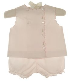 NEW Petit Ami Pink Diaper Set wih Pink Flowered Embroidery $45.00