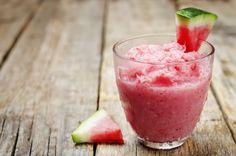 Watermelon Basil Granita/Italian ice (add vodka or rum!)