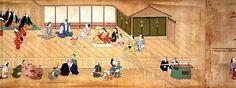 Cependant, ailleurs, comme au Japon, on développait la représentation en perspective cavalière, où les fuyantes sont parallèles entre elles, seule représentation du volume connue jusqu'aux échanges avec les occidentaux au XVIIIè s.//Japon, période d'Edo (XVIIe siècle)