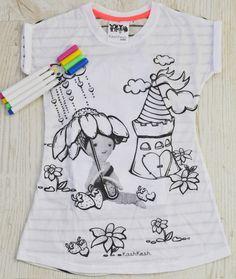 diy kit: shirt and fabric markers - berry picking sweetheart dreamer (etsy shop: KashKesh)