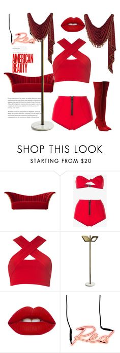 """""""Get low- 50 cent"""" by spaceemo ❤ liked on Polyvore featuring Christopher Guy, Lisa Marie Fernandez, Motel, MARIONI, Lime Crime, Seletti and Walter Steiger"""
