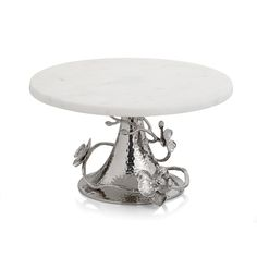 Orchid Cake, Silver Cake Stand, Cake And Cupcake Stand, White Dishes, Steel Wool, Plate Stands, White Orchids, Sculpture, Pure Products