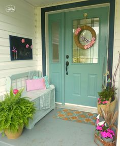 ..love the entryway and wreath