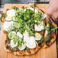 Zucchini-and-Mozzarella Flatbread
