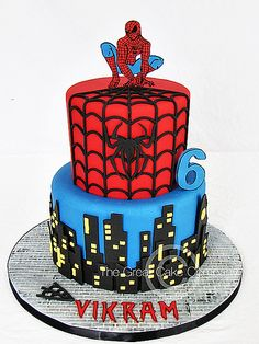Spider-Man Cake | Done for a little boy turning 6. Topper ma… | Flickr
