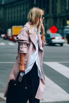 Coat: tumblr pink shirt oversized oversized shirt white shirt pants bag black bag fall outfits