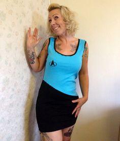Star Trek Inspired Tank Dress SciFi costume geek by CherryPiePunk, £24.00