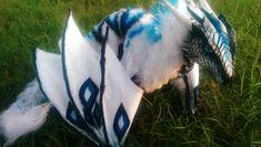 Handmade Poseable Arctic Dragon by KaypeaCreations.deviantart.com on @deviantART